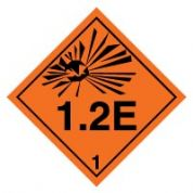 Hazard safety sign - Explosive 1.2E 021